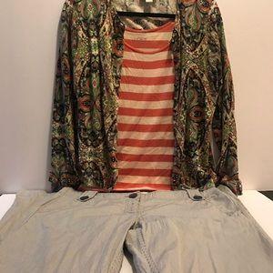 Stripe tank shirt by Loft